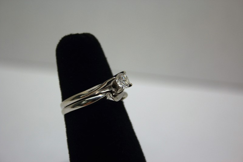 Lady's Diamond Wedding Set .43 CT. 14K White Gold 4.6g