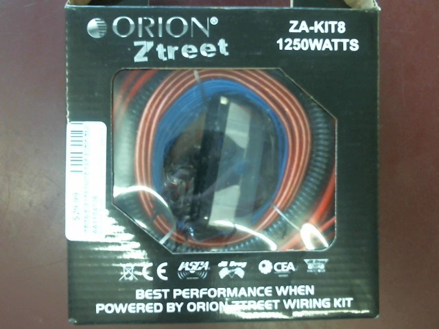 ORION 8GA, 1250W AMP WIRING KIT ZA-KIT8