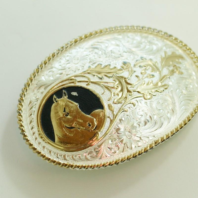 MONTANA SILVERSMITHS HORSE HEAD BELT BUCKLE