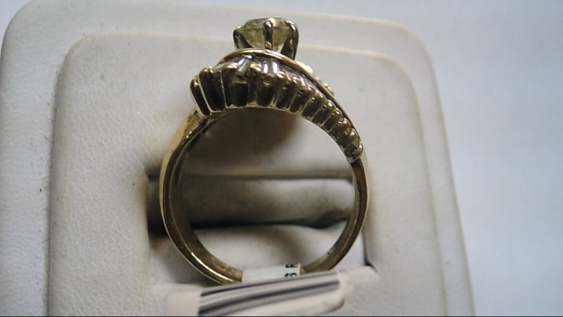 Lady's Diamond Cocktail Ring 14K Yellow Gold Size 7.5