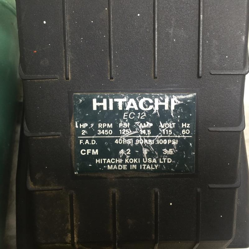 HITACHI Air Compressor EC12 2HP COMPRESSOR
