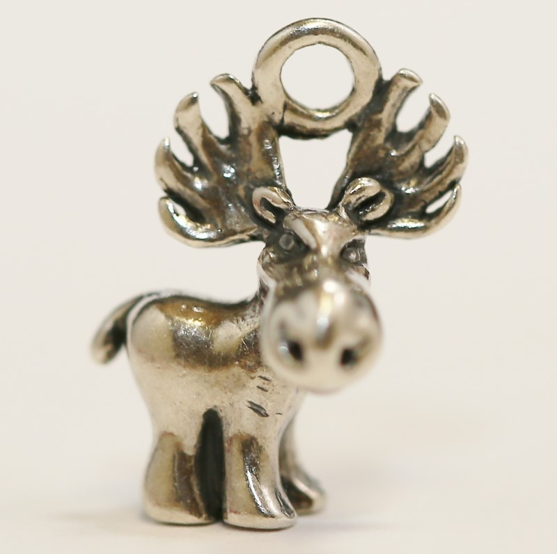 Sterling Silver Moose Charme
