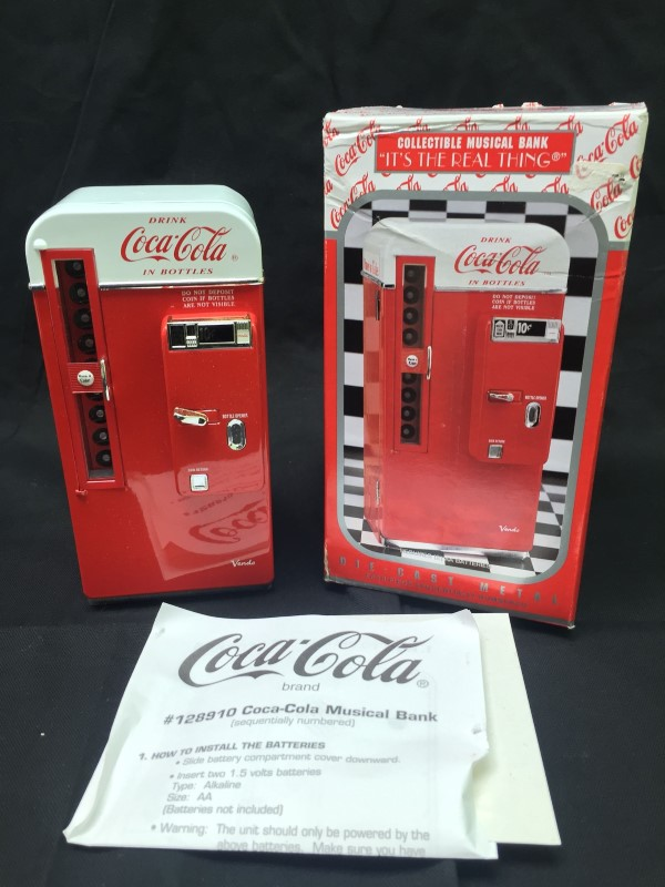 ENESCO Music Box COCA-COLA MUSICAL BANK 128910