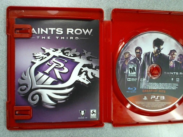 SONY Sony PlayStation 3 Game SAINTS ROW THE THIRD