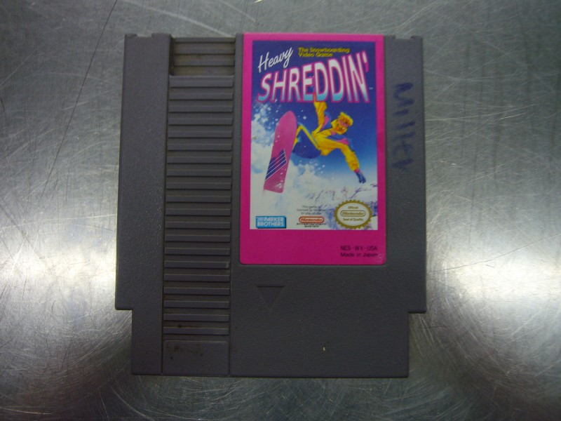 NINTENDO NES Game HEAVY SHREDDIN *CARTRIDGE ONLY*