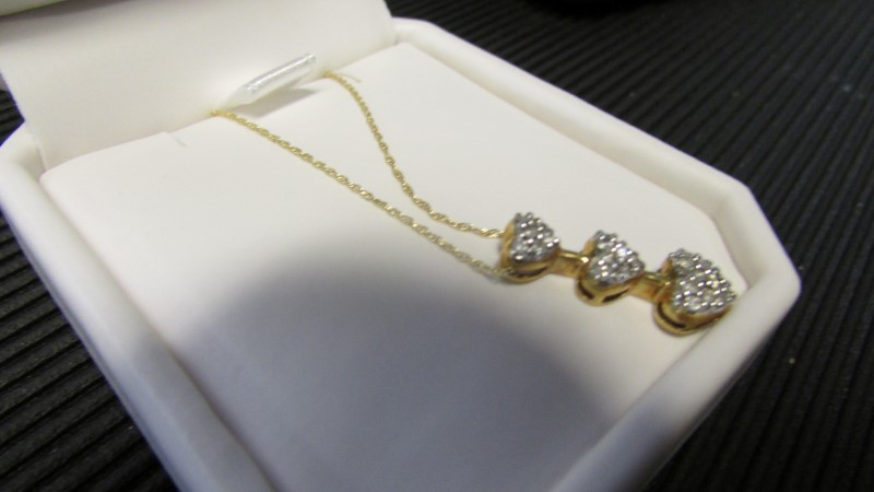 Diamond Necklace 23 Diamonds .46 Carat T.W. 14K Yellow Gold 2.18g