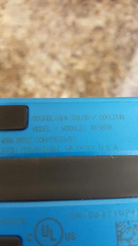 Bose SoundLink Color Bluetooth Wireless Speaker- Blue - Model 415859