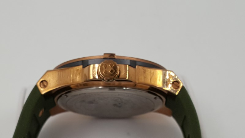 Vince Camuto Men's VC/1010GYRG The Master Rose Gold-Tone Watch