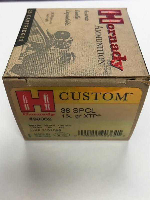 Hornady Custom - 38 SPCL - 158 GR. XTP - #90362