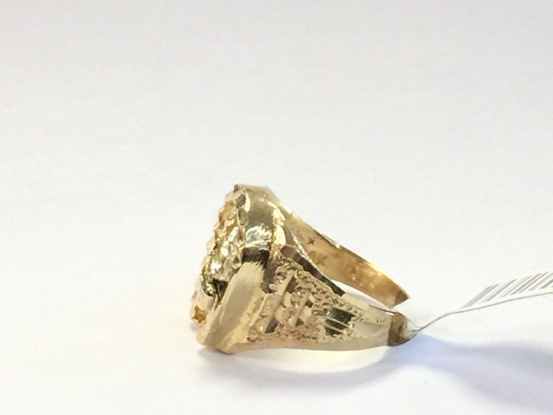 LDS 14KT Gent's Gold Ring 2.9dwt Size:4.5