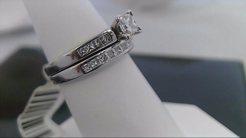 Lady's Diamond Wedding Set 20 Diamonds 1.35 Carat T.W. 14K White Gold 5.4g