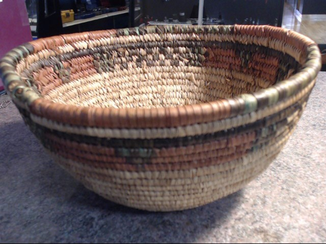 African Hausa Coil Hand Woven Basket from Nigeria
