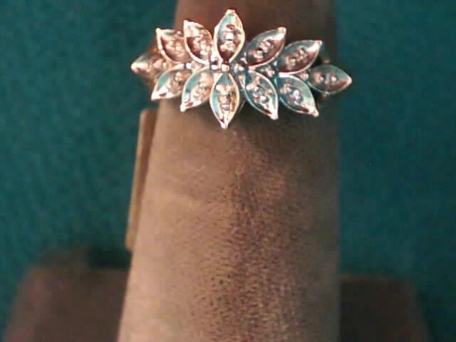 Lady's Diamond Fashion Ring 12 Diamonds .060 Carat T.W. 10K 2 Tone Gold 1.5dwt