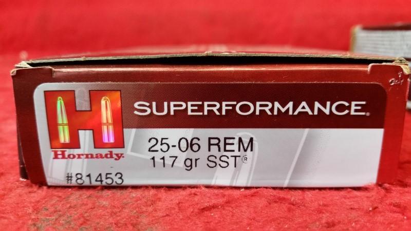 Hornady #81453 25-06 Rem 117gr SST