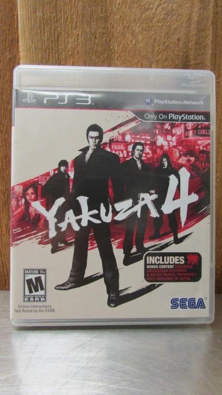SONY Sony PlayStation 3 Game YAKUZA 4