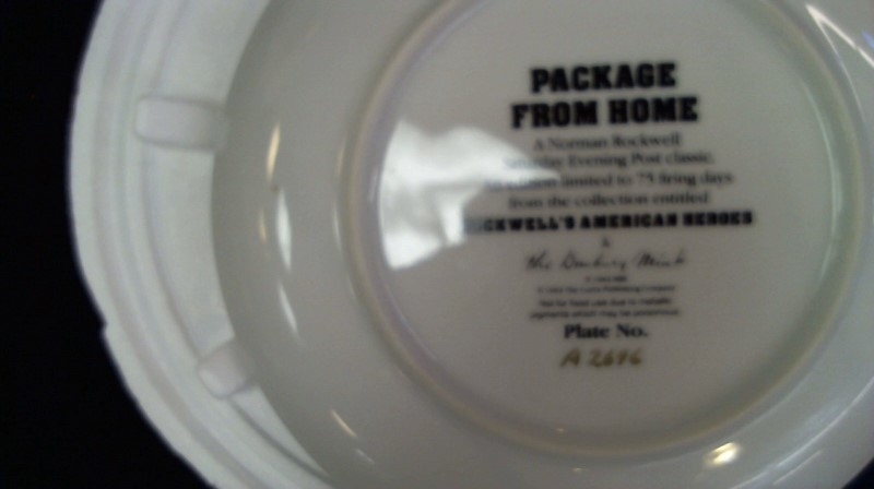 DANBURY MINT Collectible Plate/Figurine NORMAN ROCKWELL AMERICAN HEROES