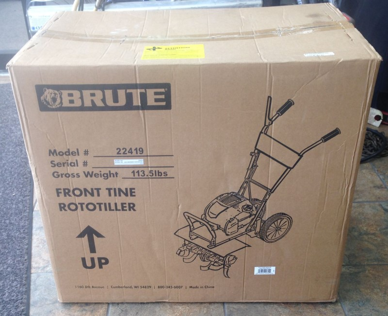 Brute Front Tine Tiller, 163cc Briggs & Stratton Engine Model 22419