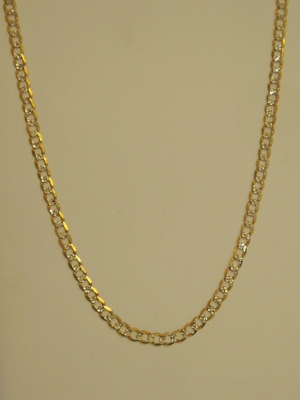 """16"""" Gold Curb Chain 14K Yellow Gold 6.4g"""