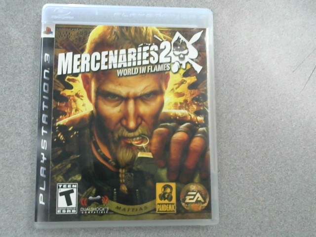SONY Sony PlayStation 3 Game MERCENARIES 2 WORLD IN FLAMES