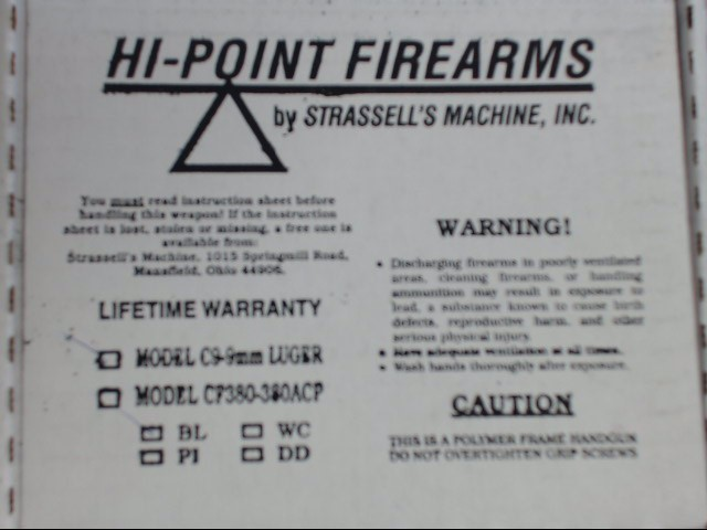 HI-POINT - C9 - 9MM