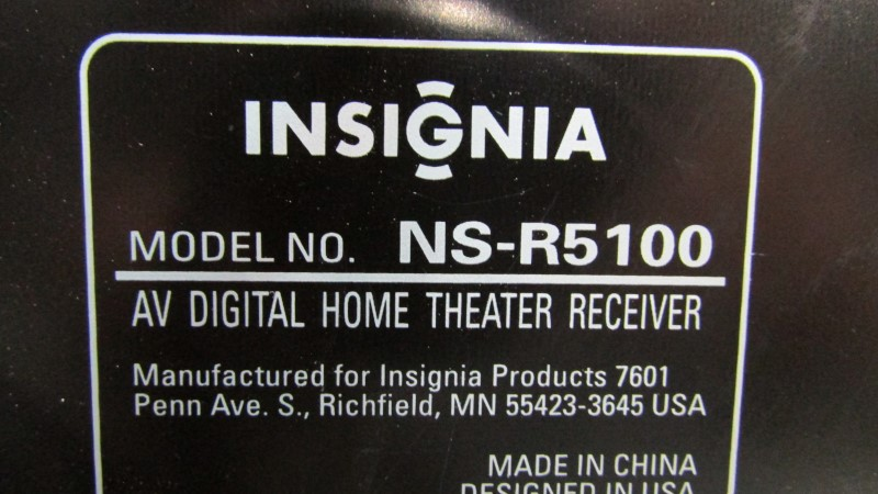 INSIGNIA Receiver NS-R5100