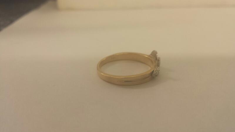 14K-Two Tone Lds Fashion Ring