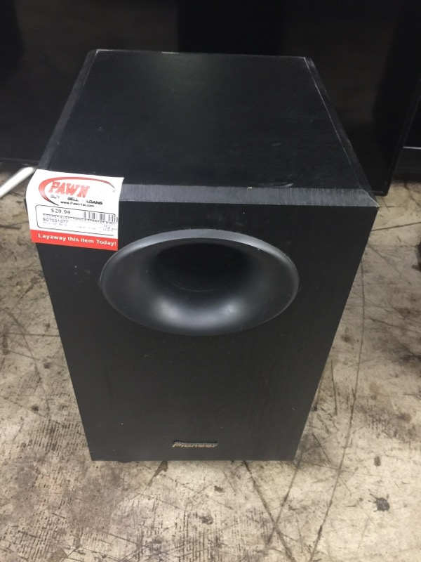 PIONEER ELECTRONICS Speakers/Subwoofer S-W20
