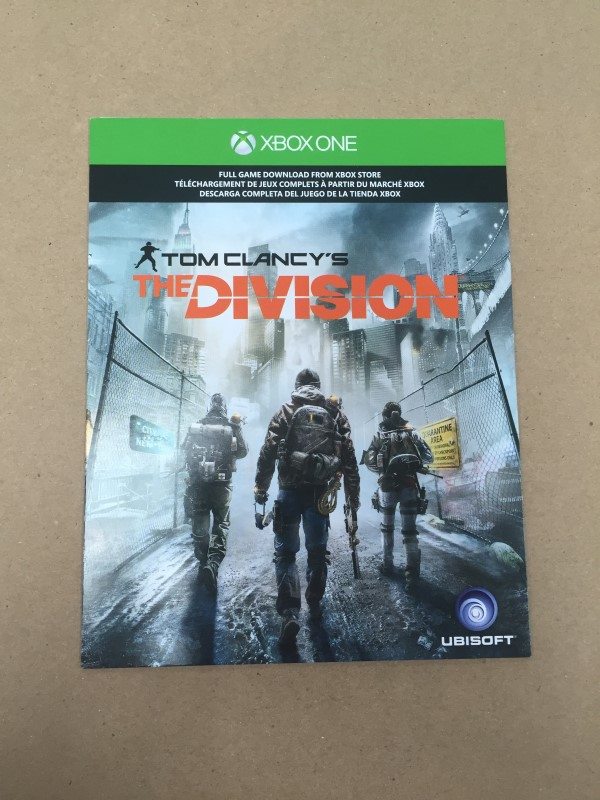 Tom Clancy's The Division (Microsoft Xbox One, 2016) DOWNLOAD CODE