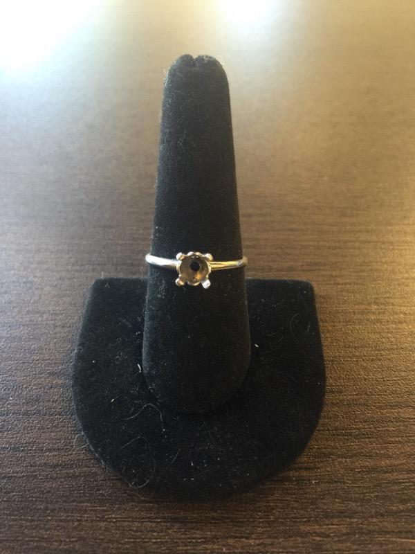 Lady's Platinum Ring Mount 950 Platinum 3.5g Size:8.5