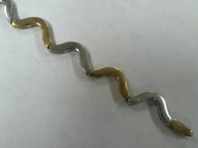 Gold Bracelet 10K 2 Tone Gold 4.5g