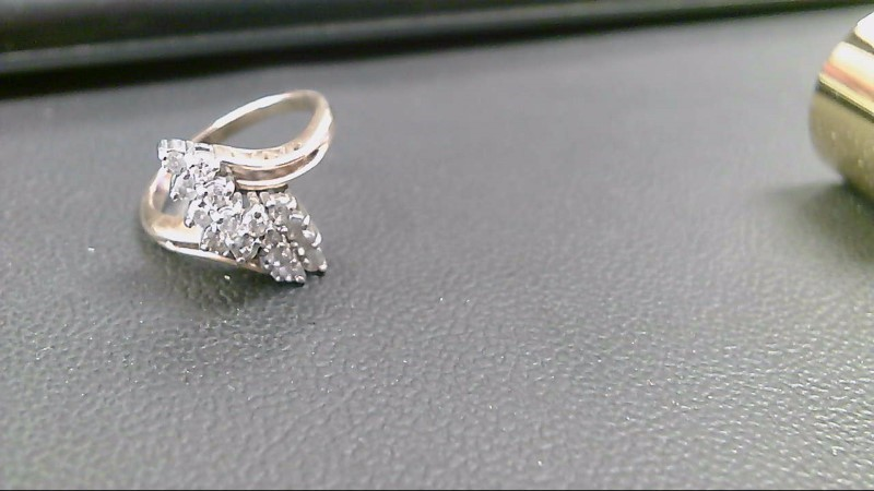 Lady's Diamond Cluster Ring 16 Diamonds .80 Carat T.W. 10K Yellow Gold 3.8g