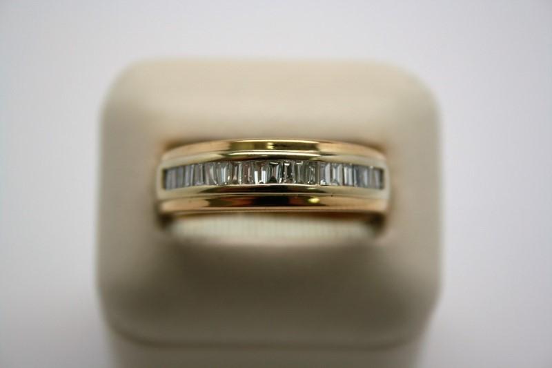 GENT'S FASHION DIAMOND BAND 14K YELLOW GOLD