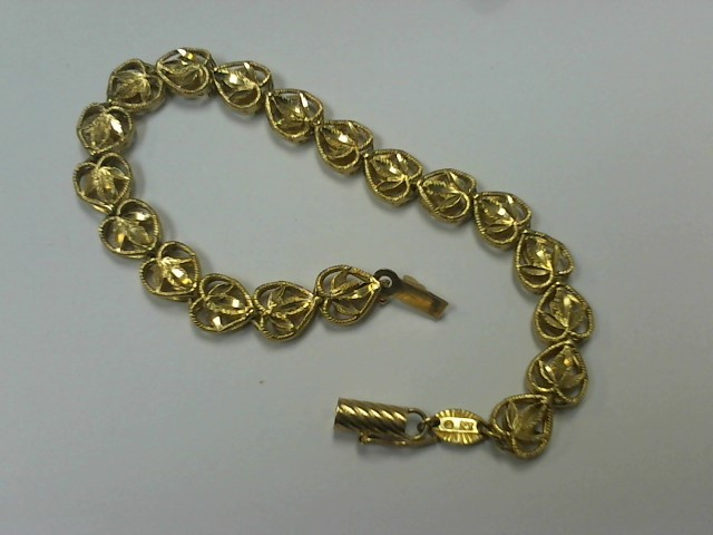 Gold Fashion Bracelet 14K Yellow Gold 8.5g