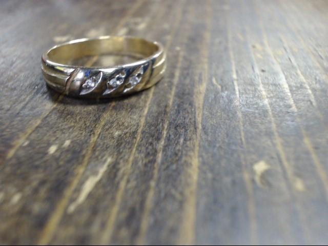 Lady's Diamond Cluster Ring 4 Diamonds .04 Carat T.W. 14K Yellow Gold 3.4g
