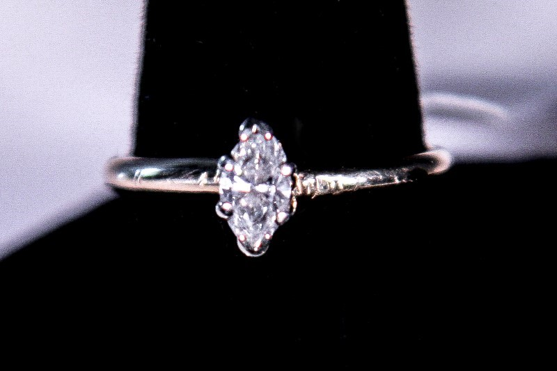 Lady's Diamond Solitaire Ring .20 CT. 14K Yellow Gold 1.4g