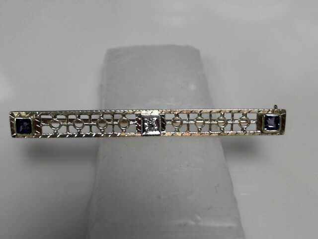 Vintage Diamond Brooch .03 CT. 562 Yellow Gold 3.26g