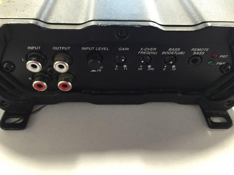 KICKER MONO CX SERIES CAR AMP, MODEL #CX600.1, 1200W CLASS D AMP