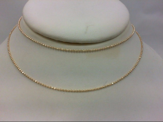 "22"" Gold Fashion Chain 14K Yellow Gold 2.7g"