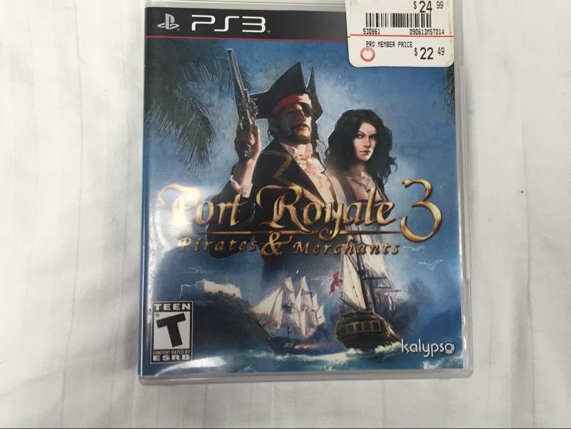 SONY Sony PlayStation 3 Game PORT ROYALE 3 PIRATES & MERCHANTS