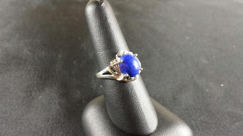 Oval Lapis Lady's Silver & Stone Ring 925