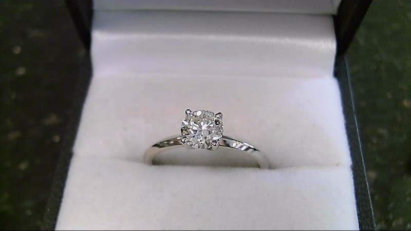 lady's 14k white gold 3/4ct round diamond solitaire ring
