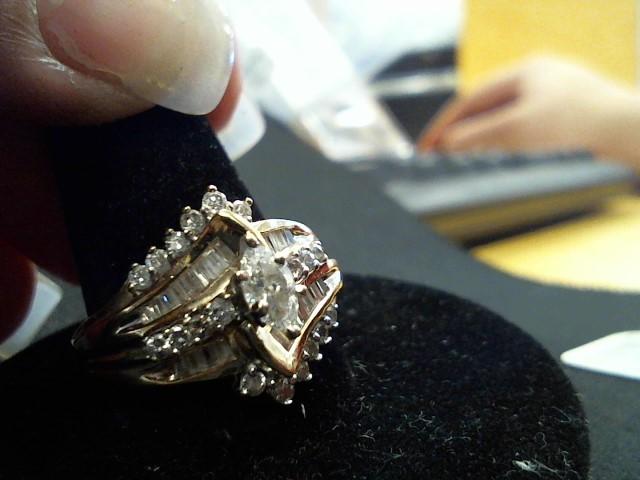 Lady's Gold-Diamond Anniversary Ring 49 Diamonds .91 Carat T.W. 14K Yellow Gold