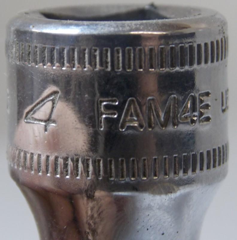 "SNAPON TOOL 7 PIECE 3/8"" DRIVE 4-10MM METRIC HEX BIT SOCKET DRIVER, FAM4E-FAM10E"