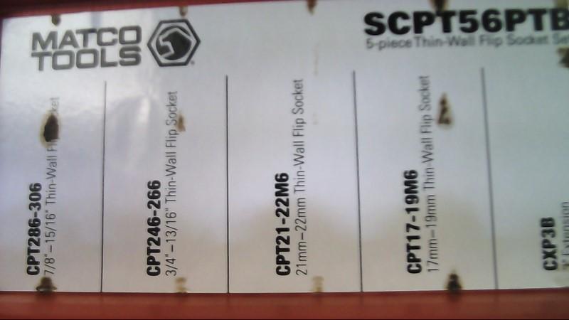 MATCO TOOLS Sockets/Ratchet SCPT56PTB 5 PIECE SET