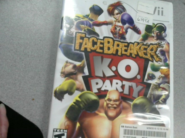 NINTENDO Nintendo Wii Game FACEBREAKER K.O. PARTY