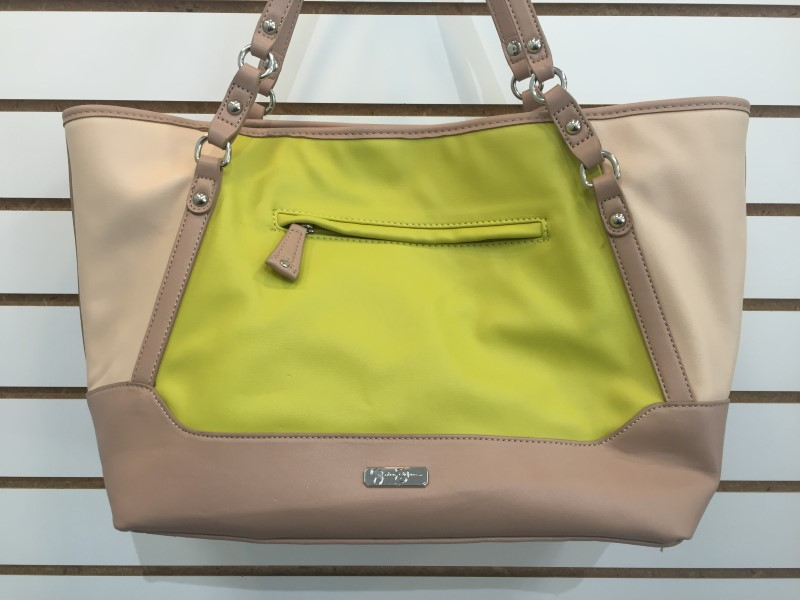 Adorable Jessica Simpson JS5941 Jackie Tote Large Handbag in Lemon and Beige