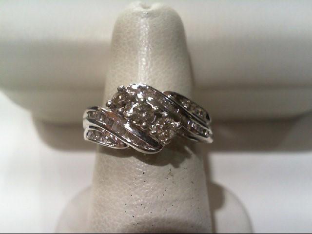 Lady's Diamond Fashion Ring 43 Diamonds .53 Carat T.W. 10K White Gold 2.5g