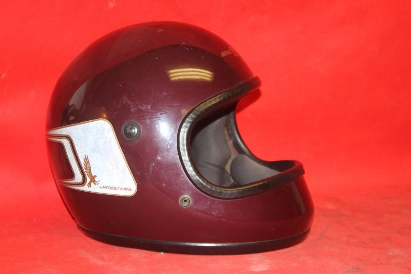 Vintage Arthur Fulmer Eagle Maroon & Gold AF-t EAGLE AF50 Helmet