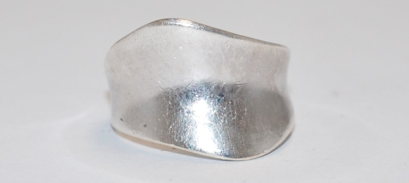 Lady's SPOON STYLE RING 925 SILVER 3.6g Size:7.5