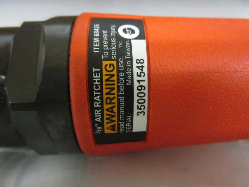 """CENTRAL PNEUMATIC 3/8"""" Impacting Air Ratchet Wrench 68426"""